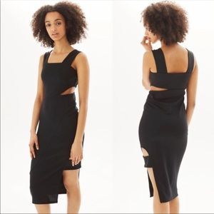Topshop Dresses - Topshop • Black Bodycon Cutout Midi Tank Dress